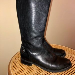 Arturo Chiang black leather tall boots size 6 1/2